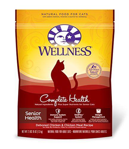 Wellness Complete Health Natural Dry Senior Cat Food Chicken 29Pound Bag >>> Visit the image link more details.