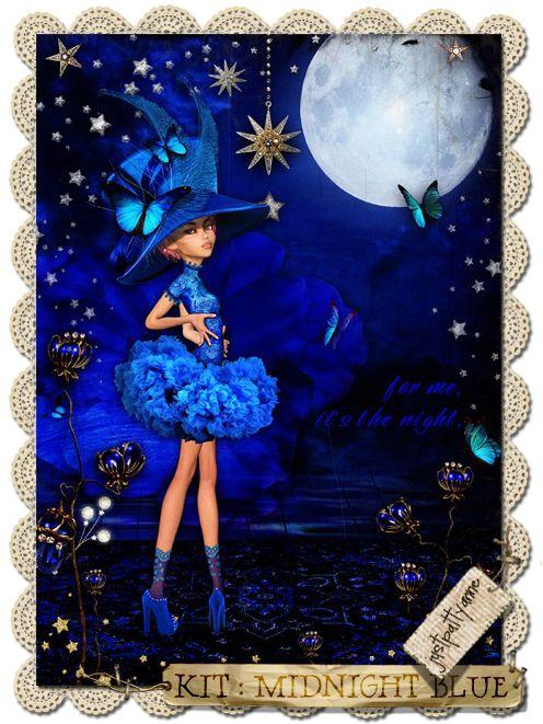 xquizart digital graphics: Midnight Blue