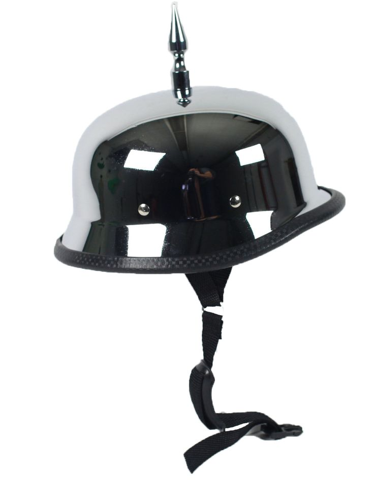 Brand New! Now available in our store: 3 Inch Spike Chro... Check it out here! http://leatherlollipop.com/products/3-inch-spike-chrome-german-novelty-motorcycle-helmet-sku-grl-spike-chrome-germ-nov-hi?utm_campaign=social_autopilot&utm_source=pin&utm_medium=pin Free shipping.