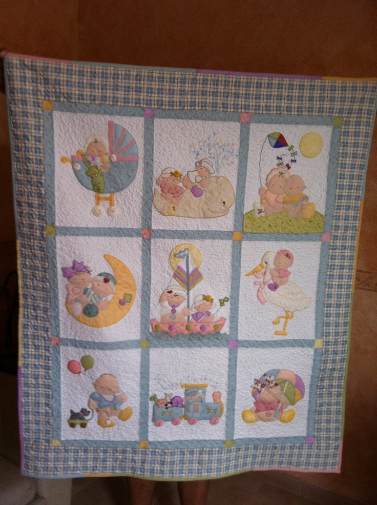 Colcha bebe cosas hechas por mi de patchwork pinterest - Patrones colchas patchwork ...