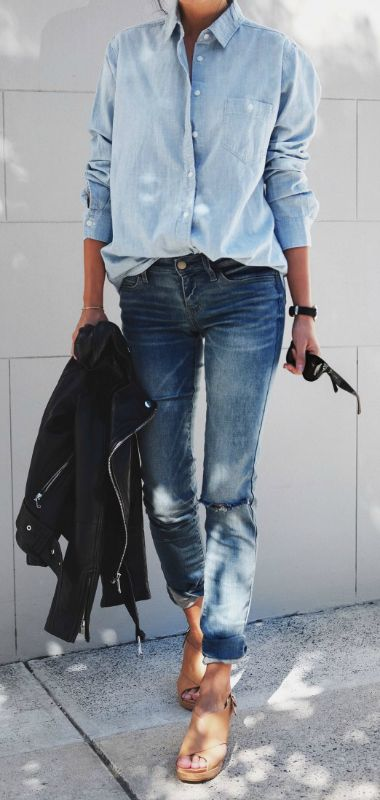 Long Over Due: Our Denim On Denim Trend File - Outfits And ...