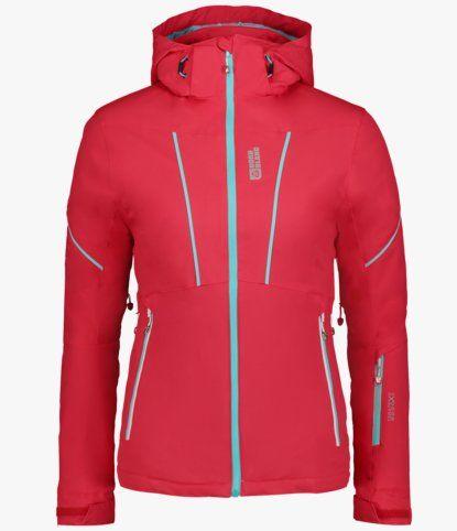 Červená dámská lyžařská bunda PIED - NBWJL6422  58bed16749e