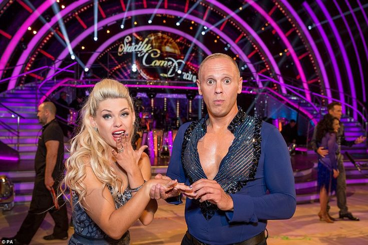 On the receiving end: Judge Rinder was paired with newbie Oksana and the duo made an attractive couple ~ Strictly, 2016