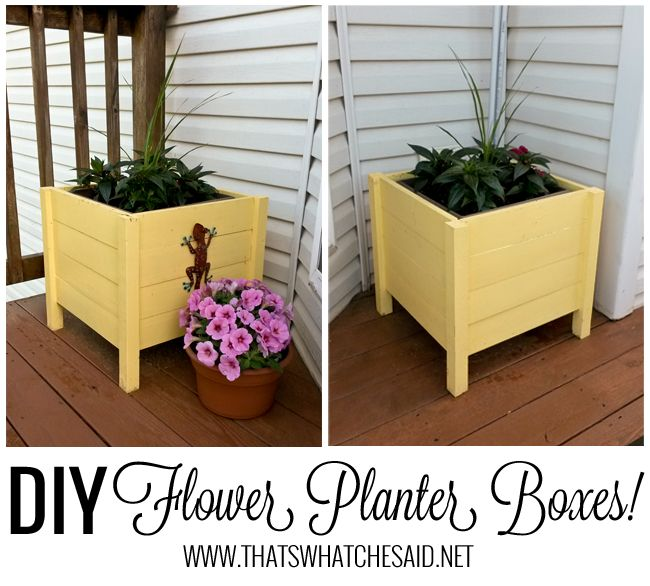 DIY Flower Boxes tutorial at thatswhatchesaid.net #diy #flowerboxes #garden