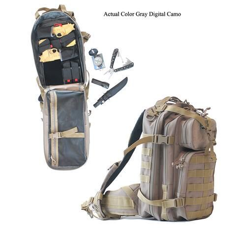 G Outdoors G.P.S. Loaded Bugout MOLLE Backpack Nylon Gray Digital Camo - GPS-T1611LTBGD - 819763011846