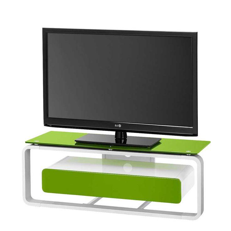 Schön Fernsehtisch In Weiß Grün Beleuchtung Jetzt Bestellen Unter: ...