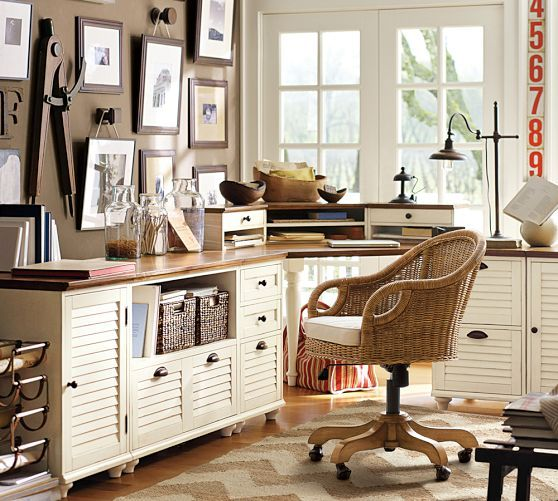 Whitney corner desk set pottery barn for the home office pinterest stains shelves and home - Pottery barn office desk ...