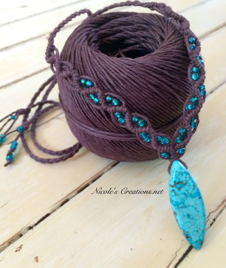 how to make macrame necklace with beads