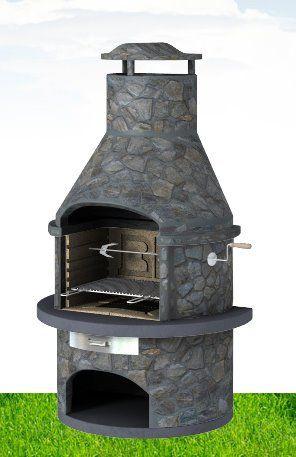 Rondo Dark Slate - Masonry BBQ Grill