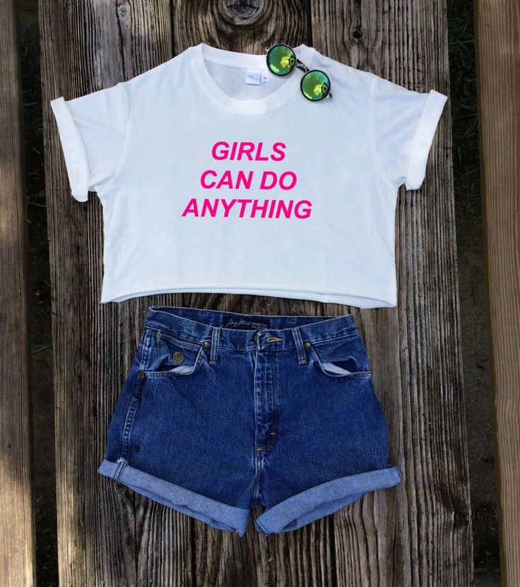 Girls Can Do Anything Crop Top - Feminist Shirt (Organic Fair Trade Cotton) by GreenBoxBoutique on Etsy https://www.etsy.com/listing/399489229/girls-can-do-anything-crop-top-feminist