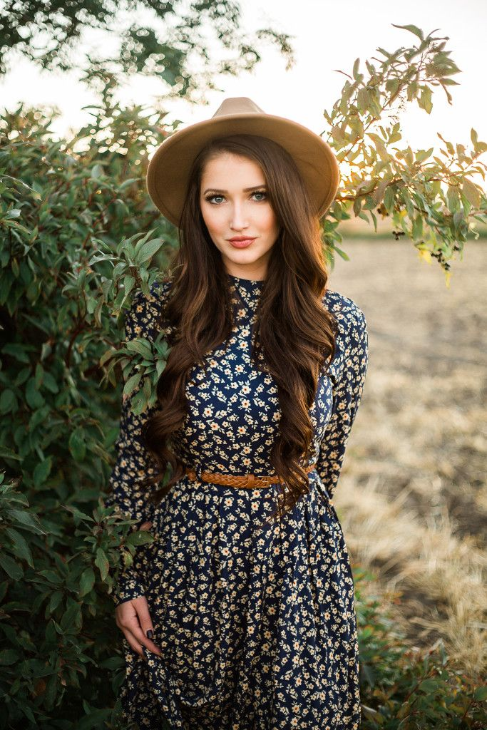 floral dress, fall fashion