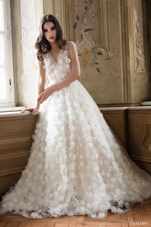Daalarna #bridal 2014 collection: sleeveless #wedding dress #weddinggown #weddingdress