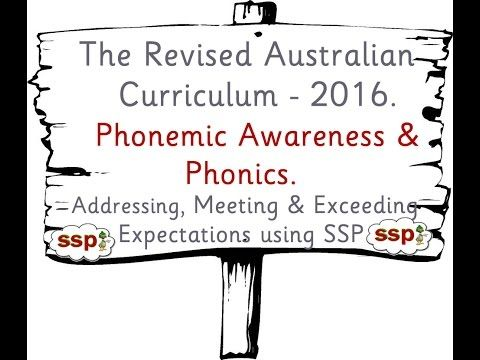 Phonics in the Revised Australian Curriculum - Teaching Phonics using SSP - YouTube