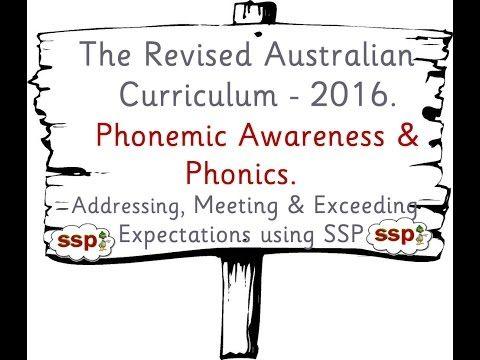 Phonics in the Revised Australian Curriculum - Teaching Phonics using SSP - YouTube