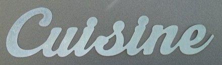 L'atelier réalise la découpe de lettres décoratives murales CUISINE . Il s'agit de lettre en zinc pour la déco de votre intérieur . Les lettres métalliques mesurent 10 cm d - 381160