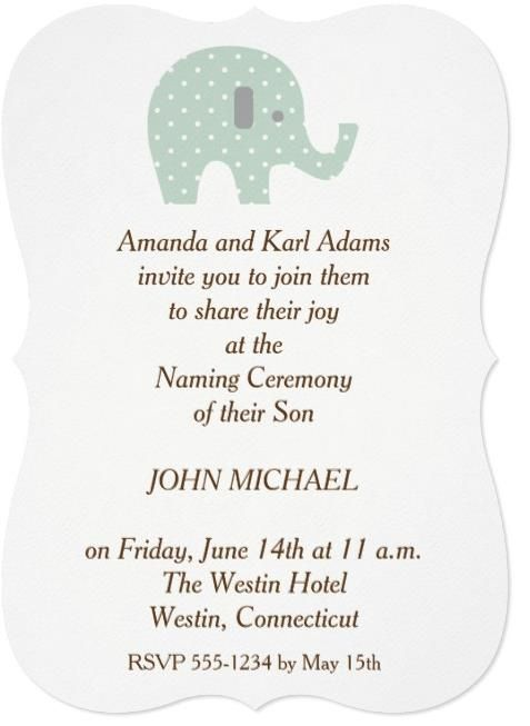 17 Best images about 15 Print Ready Naming Ceremony Invitation – Ceremony Invitation Template