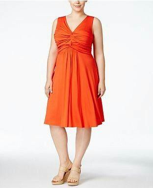 Oranssi trikoomekko