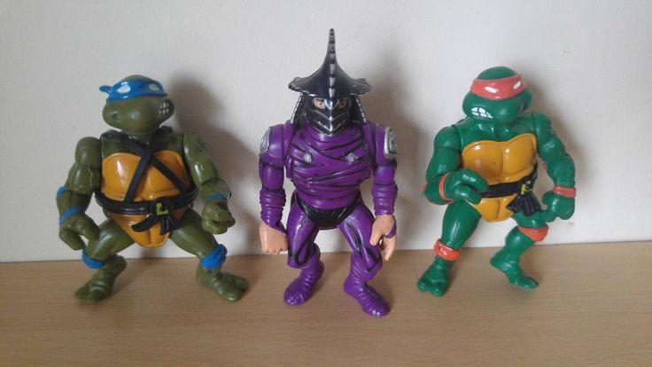 #Teenage mutant #ninja turtles turtles figures x3 - #michelangelo & leonardo 1988,  View more on the LINK: http://www.zeppy.io/product/gb/2/252739914297/