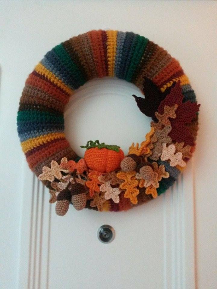 őszi ajtó koszorú