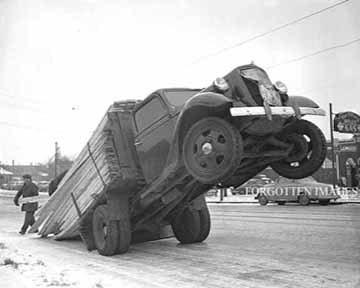Overloaded Lumber Flatbed Truck 1940s. 8x10 photo print ...