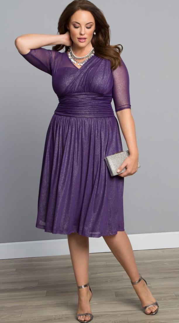 Plus size purple and black dresses