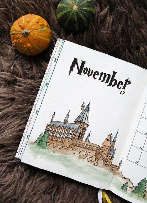 Bullet Journal – Harry Potter Monthly Theme + STICKERS! – TristArtist