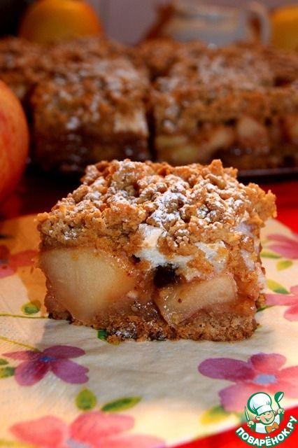 Польский яблочно-ореховый пирог - кулинарный рецепт