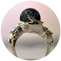 The Celestial Galaxy Oracle Ring, ring, jewelry, accessory, astronomy