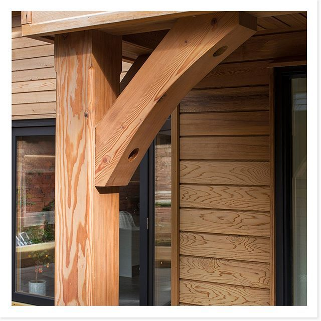 Our Douglas Fir Post On One Of Our Potton Homes Pottonselfbuild Postandbeam Selfbuild Custombuild Cust Timber Frame Homes Cedar Cladding Timber Frame