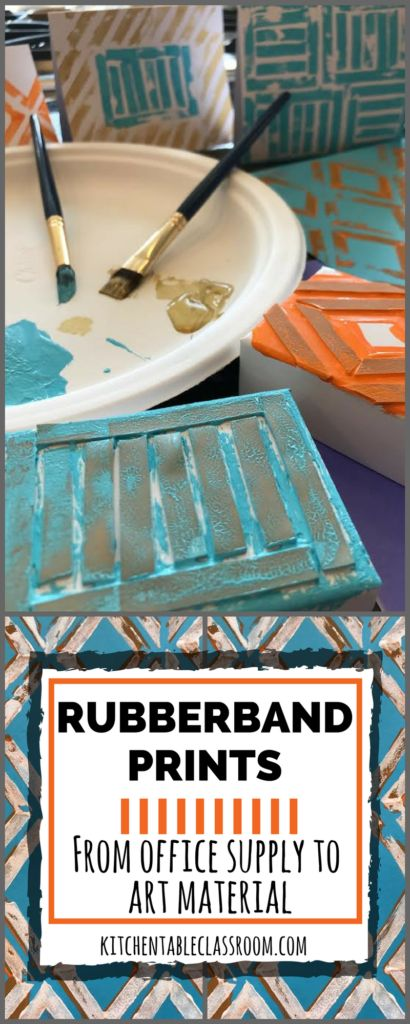 Cut up various sized rubber bands and glue them onto box such as a jewelry box. This is a pretty neat idea worth trying out.