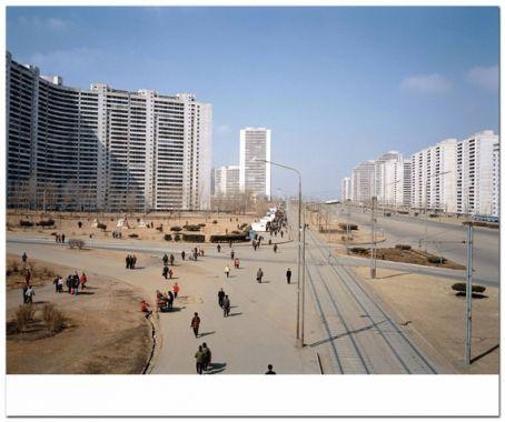 Thongil Street, Pyongyang, North Korea, 2005 by Armin Linke