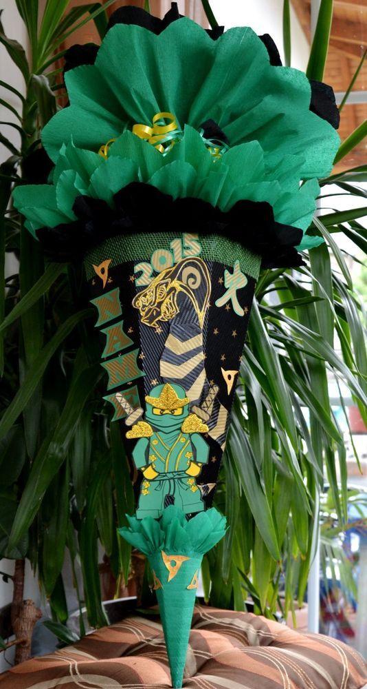 Handarbeit Schultüte Zuckertüte Ninja Schlange Neu Ninjago für Jungen + Name in Büro & Schreibwaren, Schulbedarf, Schultüten   eBay