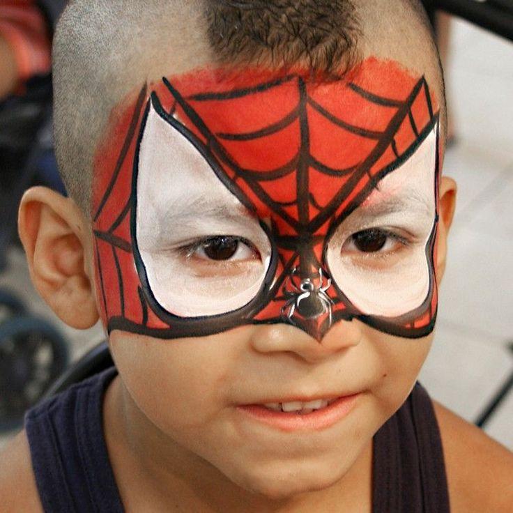 kinder schminken für fasching als beliebte superhelden