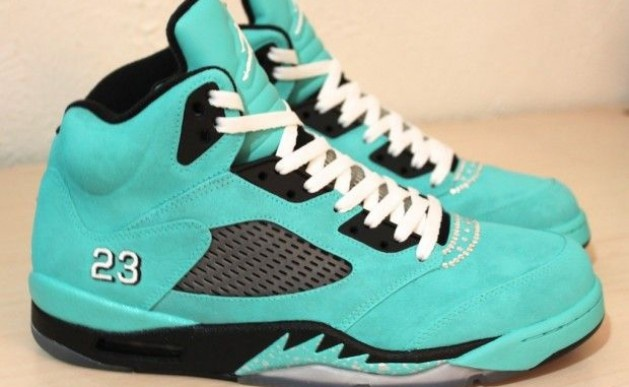 Air Jordan5 Custom Tiffany Kicks