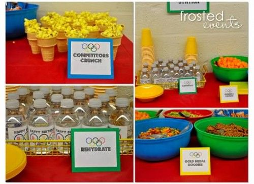 Olympic Party FoodBaby Shower Theme, Birthday Parties, Theme Parties, Bridal Shower, Parties Ideas, Parties Theme, New Years, Olympics Parties, Parties Food