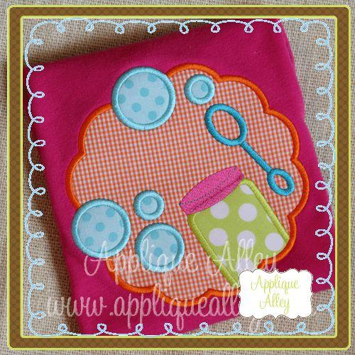 Bubbles scallop machine embroidery pinterest