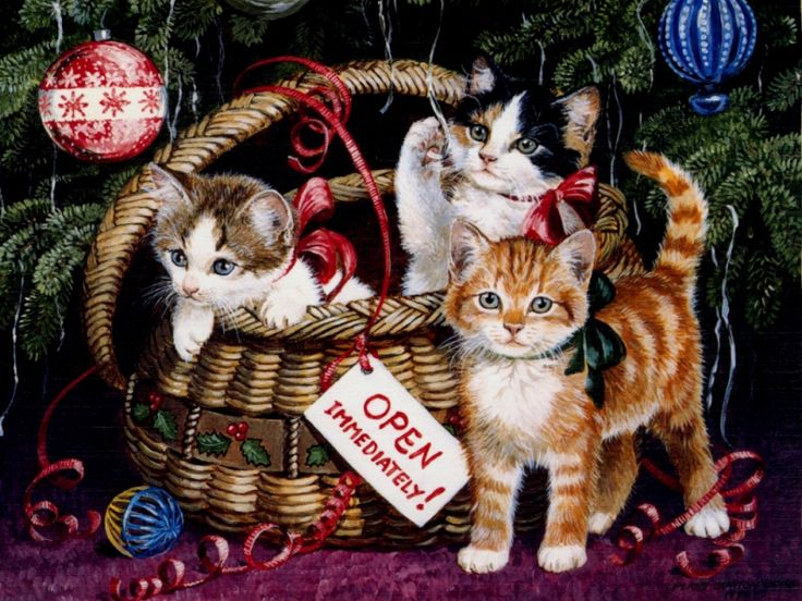 Christmas kittens by Persis Clayton Weirs