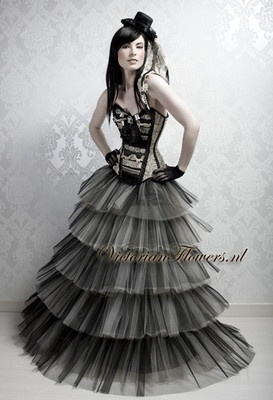 Victorian Flowers Couture Corsets Bridal Fashion Burlesque & Gothic Clothing Store #EasyPin