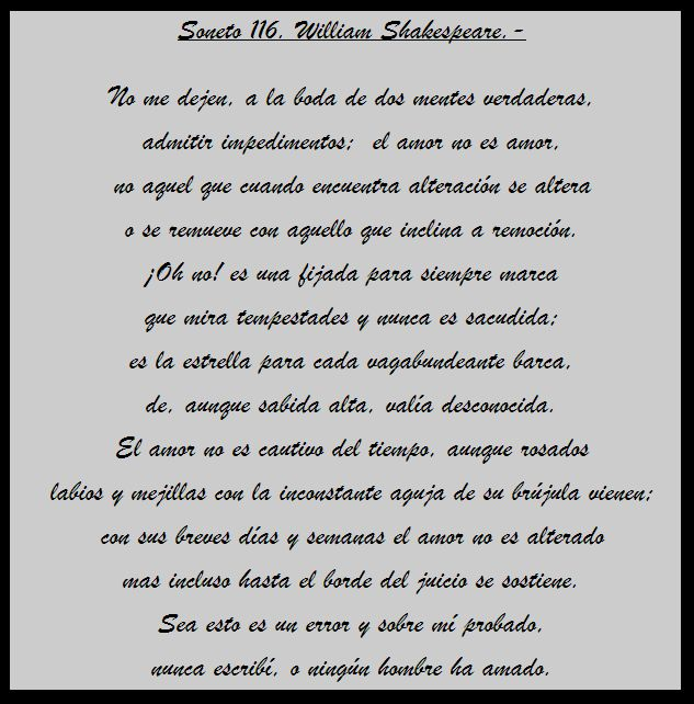 Soneto 116 de William Shakespeare