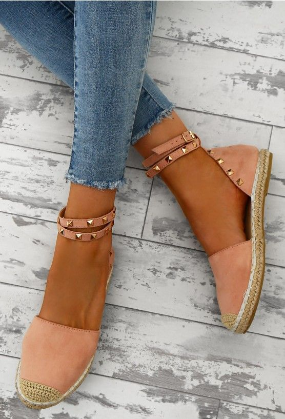 Dream Destination Pink Studded Espadrilles   Supernatural Style