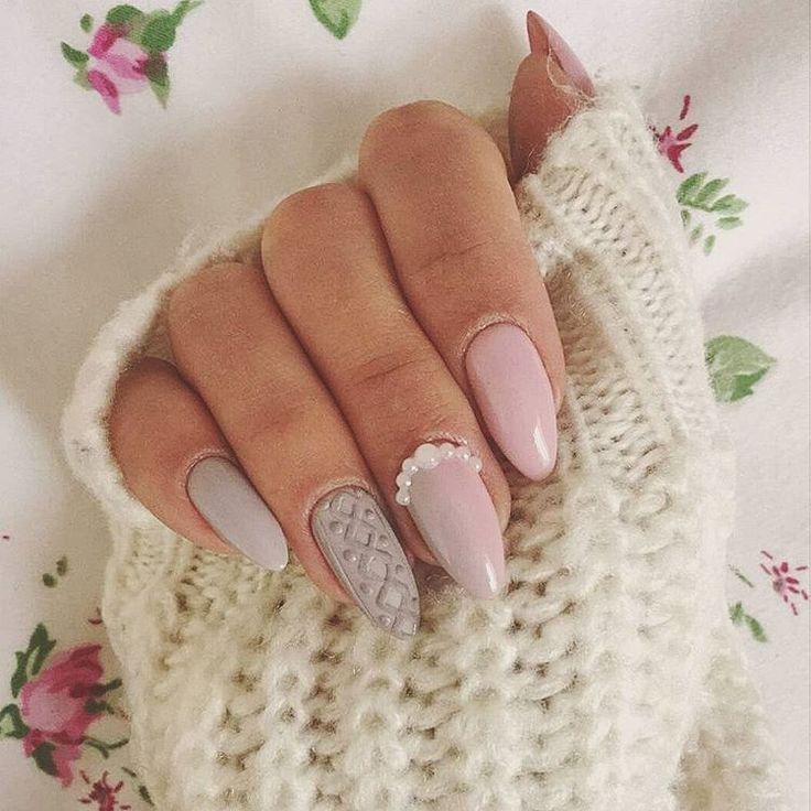"""#nails #sweet #knitted #pastel #knit #pearl #ombre #paznokcie #sweterek #pastelowe #perełki #zdjecieodklientki #misteromilano_official milano…"""