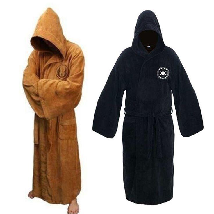 Star War Hooded Bath Robe Imperial Jedi Sith Fleece Bathrobe Cloak ...
