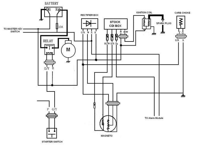 Electrical Wiring Diagram, Gy6 Electric Choke Wiring Diagram