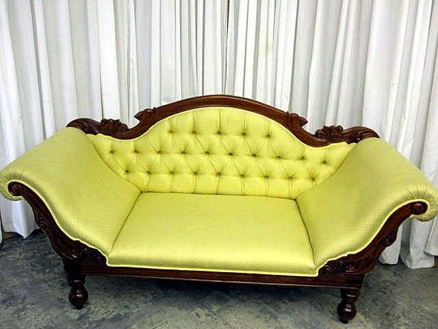 Fainting Couch And Real Couch Combined! Unfortunate Color, Though.