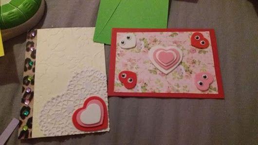 kädentaidot: ystävänpäivä kortit
