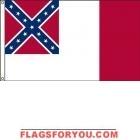 High Wind, US Made Third Confederate Flag 6x10