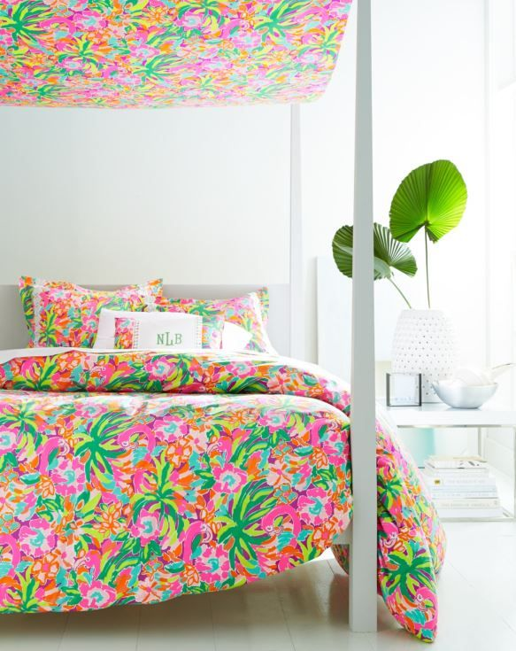 Lilly Pulitzer Sister Florals Duvet Cover Collection By Garnet Hill. Green Bedroom  DecorGreen ...