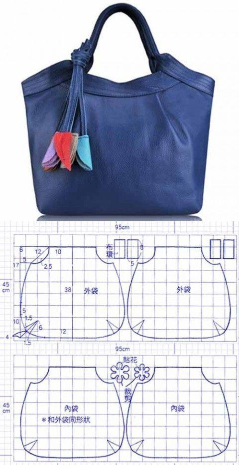 Выкройка сумки на талию
