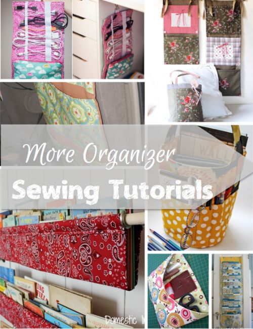 This collection of organizer sewing tutorials is bound to inspire you to find new ways to keep everything from the car, the office, to the kids room neat as a pin.
