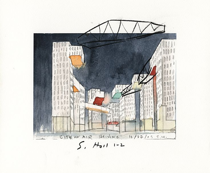 Linked Hybrid Watercolors by Steven Holl